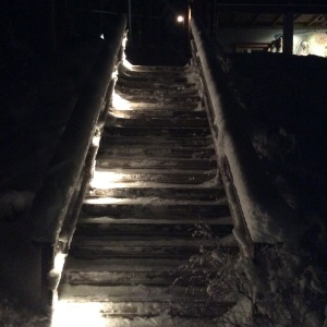 Orveli's stairs for Creek, January 18th, 2015